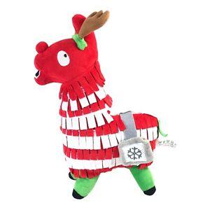 Fortnite Christmas Loot Llama Plush Doll Toy Red White Piñata Medium Size RARE