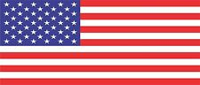 USA Flag Bumper Sticker Vinyl Decal American Car United States of America bu