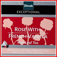 Dilmah Exceptional Rose with French Vanilla, 40 g, 20 Tea Bags FREE POSTAGE AU
