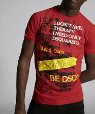 Dsquared2 Mens Manifesto T-Shirt Round Neck Short Sleeves Casual Tee Top