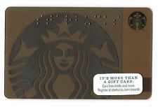 2015 Starbucks Card ~ Starbucks Siren in Brown, Braille