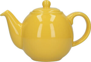 London Pottery Globe 2 Cup Traditional Teapot Gloss Sunshine Yellow
