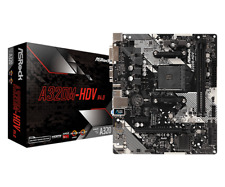 Asrock A320M-HDV R4.0, AMD A320 AM4 Micro ATX DDR4 M.2 USB 3.0 placa madre ryzen