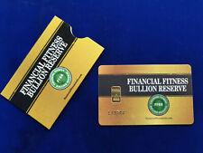 🌟1 Gram 9999 Fine Gold Bar Financial Fitness Bullion Reserve Nadir Assayer