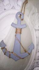 Deko Anker Holz blau Shabby chic vintage Deko Maritim 27cmx19cm