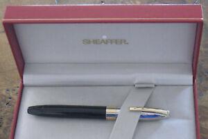 SHEAFFER LEGACY Palladium & Black Onyx Laque Fountain Pen+Box+Paper-VINTAGE-1995