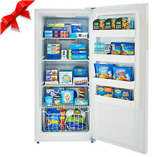Smad Upright Freezer, 13.8 Cubic Feet, Stainless Steel E-star Freezer White