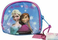 "Frozen ""My Sister My Hero"" Elsa and Anna Disney Film Blue Pink Small Purse NEW"