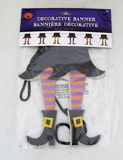 Wicked Witch Leg Halloween Party Banner Garland Decoration Laundry Room Decor
