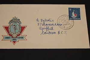 AUSTRALIA 1963 RED CROSS ISSUE ON HERMES FIRST DAY COVER EX COND