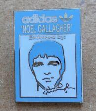 NOEL GALLAGHER OASIS ADIDAS ENDORSED RETRO ENAMEL PIN BADGE - SKY BLUE