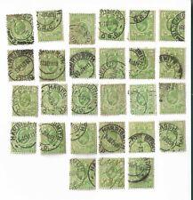 ORANGE RIVER COLONY - circa 1903 1/2d green stamps x 27 Batch 2