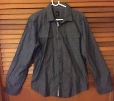 Men's Size M 100% cotton YD grey casual shirt