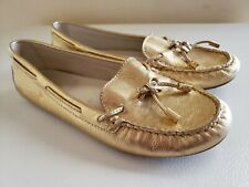 038cfd8ac9e Michael Kors Women s Daisy Gold Metallic Boat Shoes Slip on Loafers Size ...