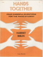 Hands Together Four Cheerful Inventions for Piano 1978 vintage sheet music