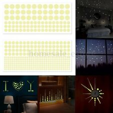 400pcs Luminous Glow In The Dark Star Round Dot Wall Sticker Home Ceiling Decor