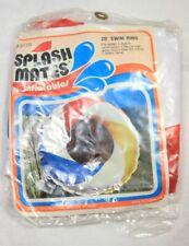 "Vintage Splash Mates Inflatable 20"" Swim Ring 3170 Red White Blue Yellow NOS"