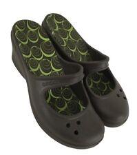 6731943065d2 Crocs Womens Ladies Brown Rubber Wedge Slip On Slides Shoes Size 9