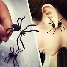1Pc Christmas Halloween Black Spider Charm Ear Stud Earrings Gift Party Fancy