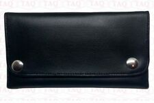 leather tobacco pouch soft good quality zipped wallet black colours