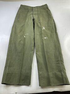 Vintage Us Army Mens Sateen OG-107 Trousers Pants Fatigue Vietnam Era Jungle