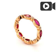 Memory Ring Diamanten Rubine 2,52 carat Gold Wert 3.630 Euro Verlobungsring Neu