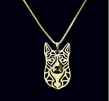 Australian Cattle Dog Pendant Necklace -  Fashion Jewellery - Gold Plated