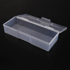 Clear Plastic Storage Box Jewelry Craft Nail Beads Container Organizer Case