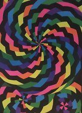 Pin Wheel vintage black light poster Psychedelic Pin-up 1970's Neon Pinwheel