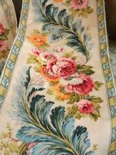 Two Beautiful Antique French Vibrant Floral Edging/Border Trim (A)