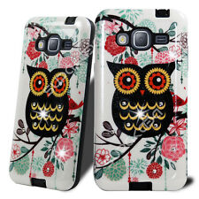 For Samsung Galaxy On5 Shockproof Hybrid Hard Diamond Bling Case Phone Cover Owl