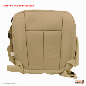 2007 2008 Ford Expedition Driver Side Bottom Seat Cover- Perforated vinyl Tan
