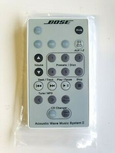 GENUINE Bose Acoustic Wave Music System II with 5-CD Changer Remote - White