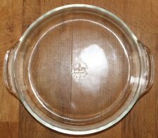 "VINTAGE ANCHOR HOCKING FIRE KING 9"" CLEAR CASSEROLE OR PIE DISH - #429 VERY NICE"