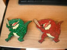 "Crocodiles 2 Pin Set - Huge 4"" - Little League World Series Pins - CA 43"