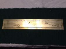 BEAUTIFUL WILFRID O. WHITE & SONS, INC. SOLID BRASS NAVIGATIONAL PARALLEL RULE