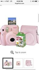 FujiFilm Instax Mini 8 Camera, Pink with Instant Film and case