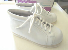 Perfection by Jumping Jacks Walking Toddler Shoes White Leather NIB
