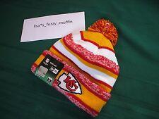 Kansas City Chiefs New Era knit pom hat beanie NEW Tag OnField AUTHENTIC 2014-15