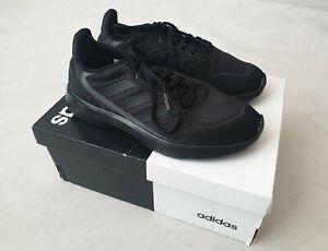 Adidas Nebzed Nebula Zed Kids Black Trainers UK Size 4 US Size 4.5 RRP £37.99