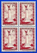 CHILE, CONDOR, BLOCK OF FOUR, YEAR 1965, SCOTT # C262
