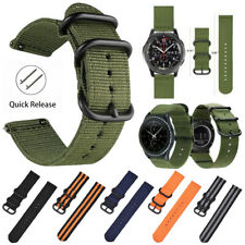 18-22mm Nylon Fabric Canvas Wrist Watch Band Strap Classic Buckle Quick Release
