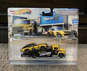 Hot Wheels Legends Tour Team Transport Corvette Carry On - WALMART ✅FREE SHIP✅