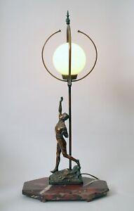 """Einzigartige original Art Deco Schreibtischlampe Bankerleuchte """"WORLD RUNNER"""""""