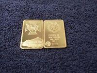 1 Troy Oz 24k Gold Clad Bar Iron Cross Nazi Germany ww2 Shipped w/ Case