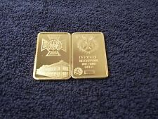 1 Troy Oz 24k Gold Clad Bar Iron Cross Nazi Germany ww2 Shipped w/ Case