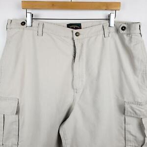 Saddlebred Cargo Shorts Mens Size 40 Flat Front Cotton Khaki