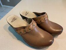 DANSKO Women's 'Rach' Brown Leather Heritage Mules Clogs Size 40