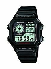 CASIO STANDARD DIGITAL AE-1200WH-1A World map for World Time LED 4971850968733