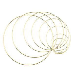 Gold Dream Catcher Metal Ring Macrame Craft Wreath Hoop For Christmas Wedding 9